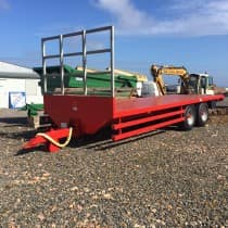 26ft Mac Bale Cart Red