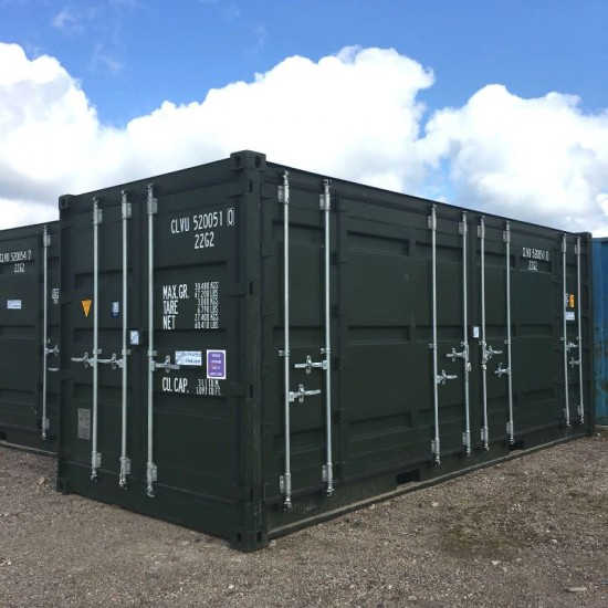 Green 20FT Side Opening Shipping Container
