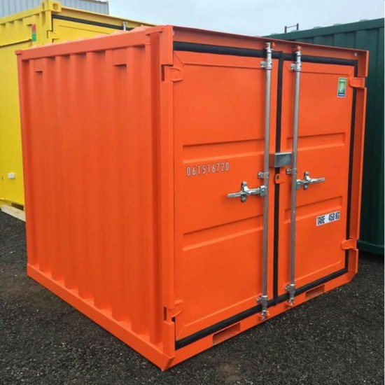 6ft Orange Steel Container