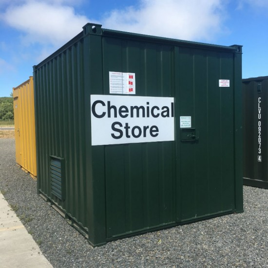 10ft Green Chemical Store